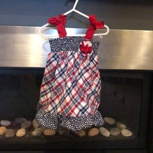 Adorable 4th of July patriotic USA dress
